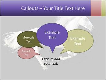 White Running Horse PowerPoint Templates - Slide 73