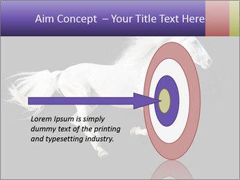 White Running Horse PowerPoint Templates - Slide 83