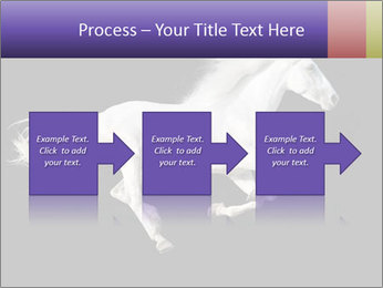 White Running Horse PowerPoint Template - Slide 88