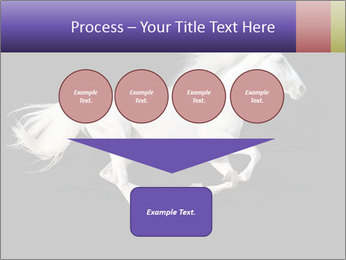 White Running Horse PowerPoint Template - Slide 93