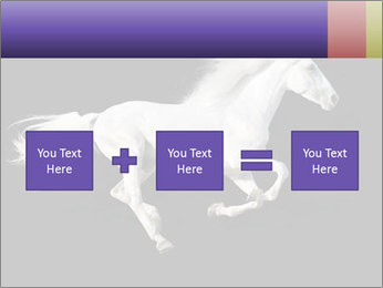 White Running Horse PowerPoint Template - Slide 95