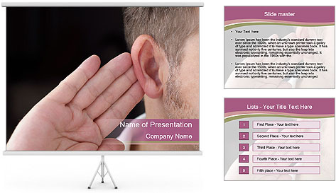 Secret Gossip PowerPoint Template