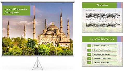 Blue Mosque Istanbul PowerPoint Template