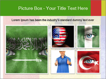 Patriotic Body Art PowerPoint Template - Slide 19