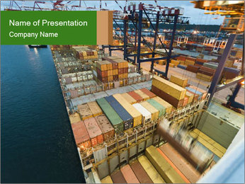 Containers For Shipping PowerPoint Template