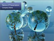 Trees In Water Drops PowerPoint Templates