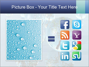 Trees In Water Drops PowerPoint Template - Slide 21
