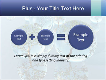 Trees In Water Drops PowerPoint Template - Slide 75