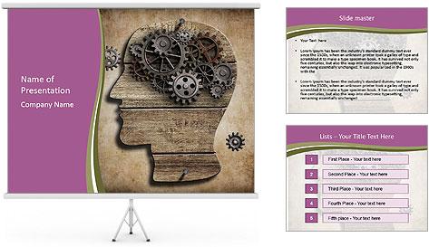 Brain Mechanism PowerPoint Template