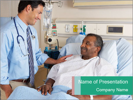 Man In Hospital PowerPoint Template