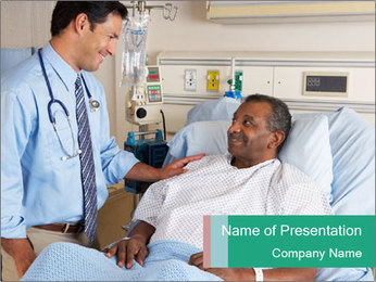 Man In Hospital PowerPoint Templates - Slide 1