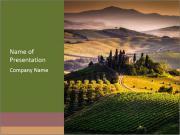 Italian Village Landscape PowerPoint Templates
