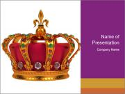 Crown With Gemstones PowerPoint Templates