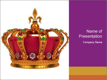 Crown With Gemstones PowerPoint Templates - Slide 1