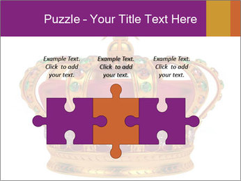 Crown With Gemstones PowerPoint Templates - Slide 42
