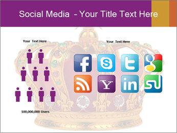 Crown With Gemstones PowerPoint Templates - Slide 5