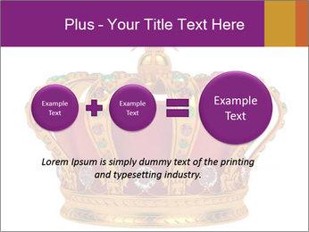 Crown With Gemstones PowerPoint Templates - Slide 75