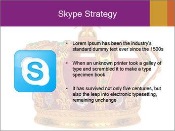 Crown With Gemstones PowerPoint Templates - Slide 8