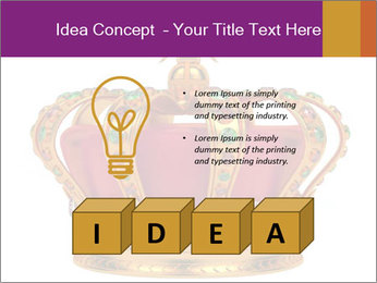 Crown With Gemstones PowerPoint Templates - Slide 80
