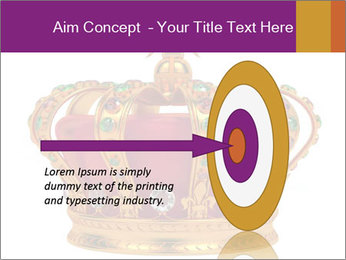 Crown With Gemstones PowerPoint Templates - Slide 83