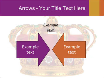 Crown With Gemstones PowerPoint Templates - Slide 90