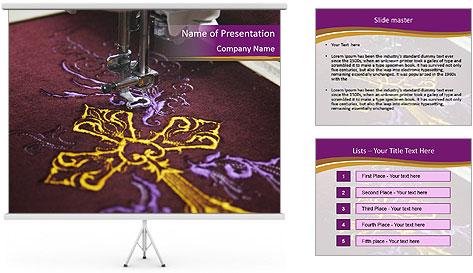 Golden Cross PowerPoint Template