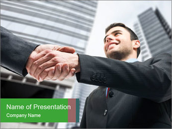 Business Way Of Greeting PowerPoint Template - Slide 1