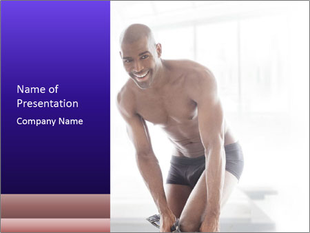 Hot African Man PowerPoint Template