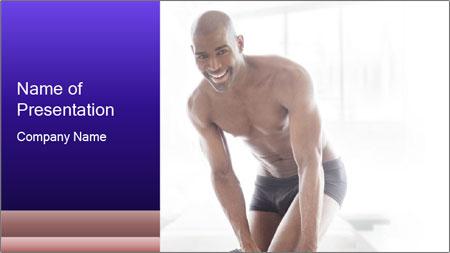 Hot African Man PowerPoint Template