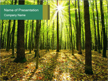 Green Forest PowerPoint Templates - Slide 1