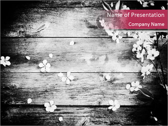 Black And White Wooden Surface PowerPoint Template