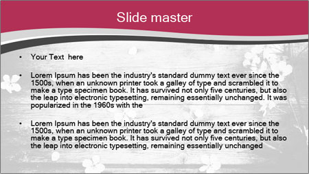 Black And White Wooden Surface PowerPoint Template - Slide 2