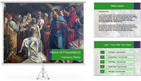 San Bernardino Art PowerPoint Template