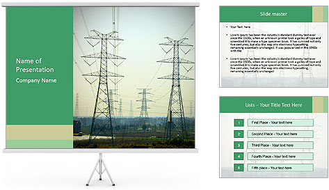 Electricity Station PowerPoint Template