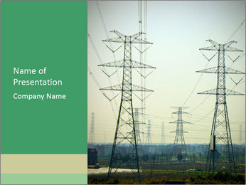 Electricity Station PowerPoint Template - Slide 1