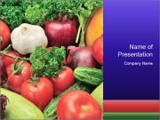 Healthy Vegetables PowerPoint Templates