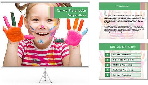 Creative Schoolgirl PowerPoint Template