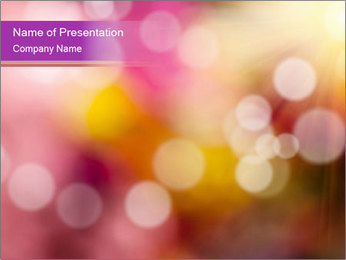 Pink Sparkles PowerPoint Template - Slide 1