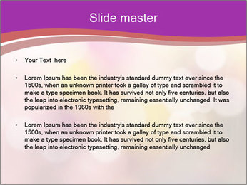 Pink Sparkles PowerPoint Template - Slide 2