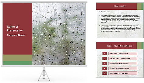 Wet Window PowerPoint Template