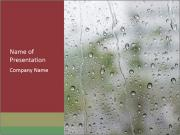 Wet Window PowerPoint Template
