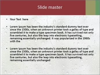 Wet Window PowerPoint Templates - Slide 2