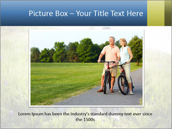 Couple Sitting In Field PowerPoint Templates - Slide 15