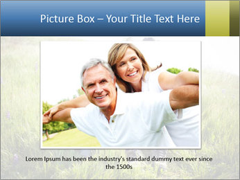 Couple Sitting In Field PowerPoint Templates - Slide 16
