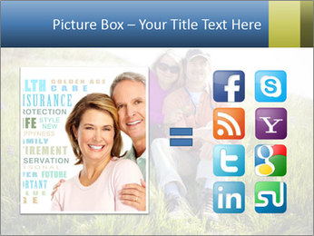 Couple Sitting In Field PowerPoint Templates - Slide 21