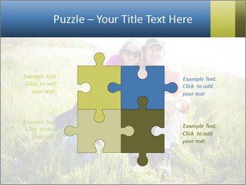 Couple Sitting In Field PowerPoint Templates - Slide 43