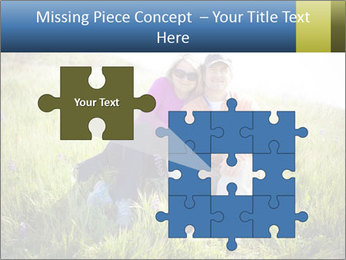 Couple Sitting In Field PowerPoint Templates - Slide 45