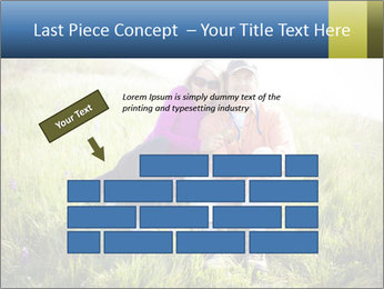 Couple Sitting In Field PowerPoint Templates - Slide 46