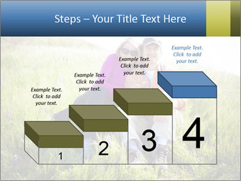 Couple Sitting In Field PowerPoint Templates - Slide 64