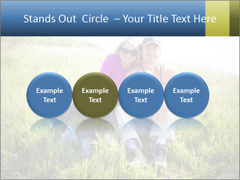Couple Sitting In Field PowerPoint Templates - Slide 76